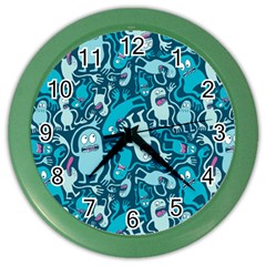 Monster Pattern Color Wall Clocks by BangZart