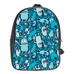 Monster Pattern School Bags(large)  by BangZart