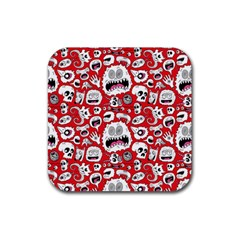 Another Monster Pattern Rubber Square Coaster (4 Pack)  by BangZart