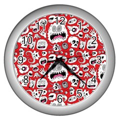 Another Monster Pattern Wall Clocks (silver)  by BangZart