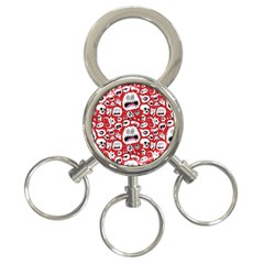 Another Monster Pattern 3 Ring Key Chains