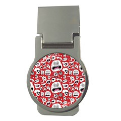 Another Monster Pattern Money Clips (round)