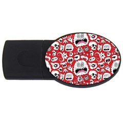 Another Monster Pattern Usb Flash Drive Oval (4 Gb) by BangZart