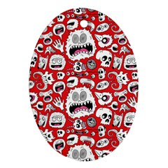 Another Monster Pattern Oval Ornament (two Sides) by BangZart