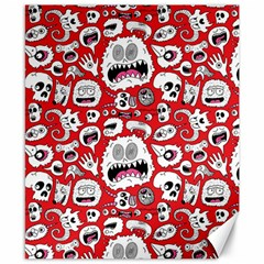 Another Monster Pattern Canvas 8  X 10  by BangZart
