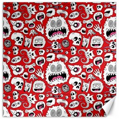 Another Monster Pattern Canvas 16  X 16   by BangZart