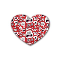 Another Monster Pattern Heart Coaster (4 Pack)