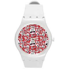 Another Monster Pattern Round Plastic Sport Watch (m) by BangZart