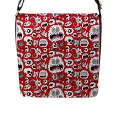 Another Monster Pattern Flap Messenger Bag (l)  by BangZart