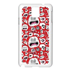 Another Monster Pattern Samsung Galaxy Note 3 N9005 Case (white)