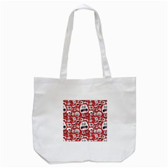 Another Monster Pattern Tote Bag (white)