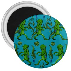 Swamp Monster Pattern 3  Magnets by BangZart