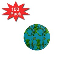 Swamp Monster Pattern 1  Mini Magnets (100 Pack)