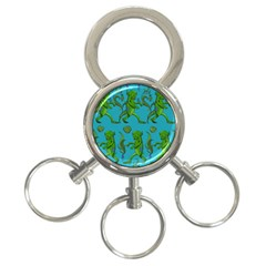Swamp Monster Pattern 3 Ring Key Chains by BangZart