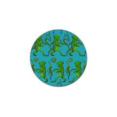Swamp Monster Pattern Golf Ball Marker by BangZart