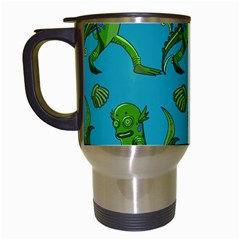 Swamp Monster Pattern Travel Mugs (white)