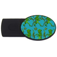 Swamp Monster Pattern Usb Flash Drive Oval (4 Gb) by BangZart