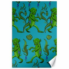 Swamp Monster Pattern Canvas 24  X 36