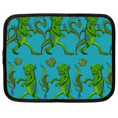 Swamp Monster Pattern Netbook Case (large) by BangZart
