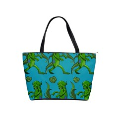Swamp Monster Pattern Shoulder Handbags by BangZart