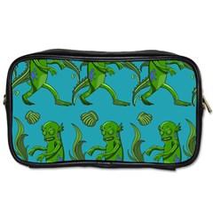 Swamp Monster Pattern Toiletries Bags 2 Side by BangZart
