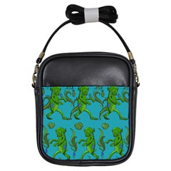 Swamp Monster Pattern Girls Sling Bags by BangZart