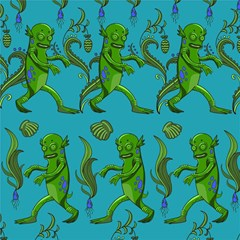 Swamp Monster Pattern Magic Photo Cubes