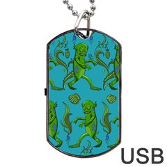 Swamp Monster Pattern Dog Tag Usb Flash (one Side) by BangZart