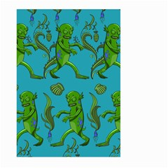 Swamp Monster Pattern Large Garden Flag (two Sides) by BangZart