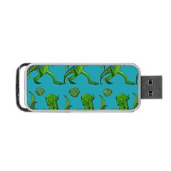Swamp Monster Pattern Portable Usb Flash (two Sides) by BangZart