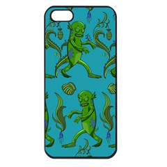 Swamp Monster Pattern Apple Iphone 5 Seamless Case (black) by BangZart