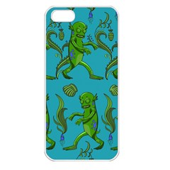 Swamp Monster Pattern Apple Iphone 5 Seamless Case (white)