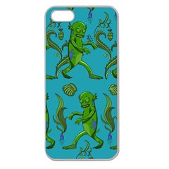 Swamp Monster Pattern Apple Seamless Iphone 5 Case (clear) by BangZart