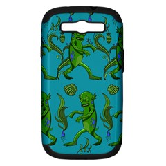 Swamp Monster Pattern Samsung Galaxy S Iii Hardshell Case (pc+silicone)