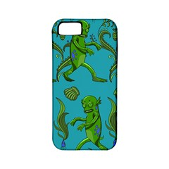 Swamp Monster Pattern Apple Iphone 5 Classic Hardshell Case (pc+silicone) by BangZart