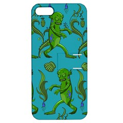 Swamp Monster Pattern Apple Iphone 5 Hardshell Case With Stand by BangZart