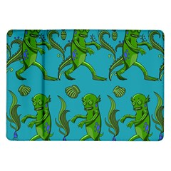 Swamp Monster Pattern Samsung Galaxy Tab 10 1  P7500 Flip Case