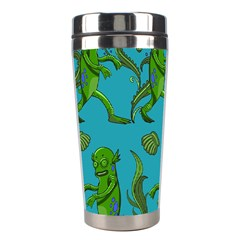 Swamp Monster Pattern Stainless Steel Travel Tumblers by BangZart