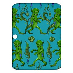 Swamp Monster Pattern Samsung Galaxy Tab 3 (10 1 ) P5200 Hardshell Case  by BangZart