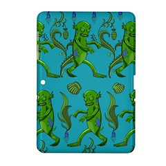 Swamp Monster Pattern Samsung Galaxy Tab 2 (10 1 ) P5100 Hardshell Case  by BangZart