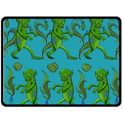 Swamp Monster Pattern Double Sided Fleece Blanket (large)  by BangZart