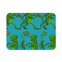Swamp Monster Pattern Double Sided Flano Blanket (mini)  by BangZart