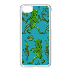 Swamp Monster Pattern Apple Iphone 7 Seamless Case (white) by BangZart