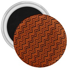Brown Zig Zag Background 3  Magnets by BangZart