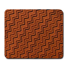 Brown Zig Zag Background Large Mousepads by BangZart