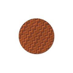 Brown Zig Zag Background Golf Ball Marker (4 Pack) by BangZart