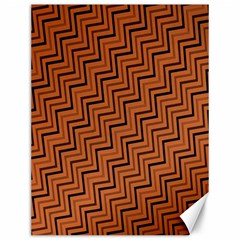 Brown Zig Zag Background Canvas 12  X 16   by BangZart