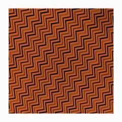 Brown Zig Zag Background Medium Glasses Cloth (2 Side)