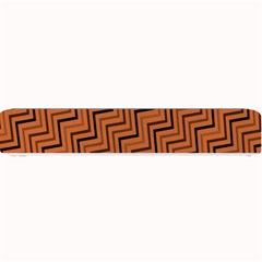 Brown Zig Zag Background Small Bar Mats
