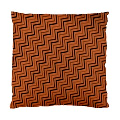 Brown Zig Zag Background Standard Cushion Case (two Sides)